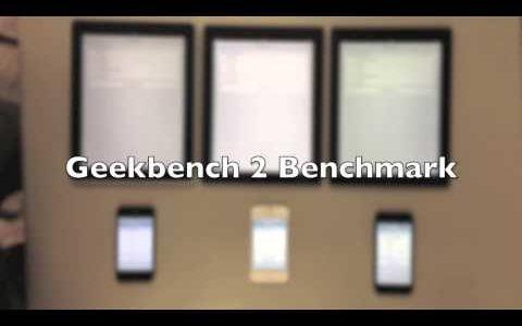 iPhone 4/4S/5、初代〜第三世代iPadの性能をいろんな面から比較し、同時にテストしたムービー