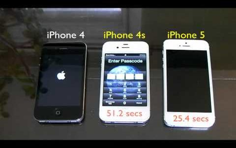 iPhone 5/4S/4の起動時間を計測した結果