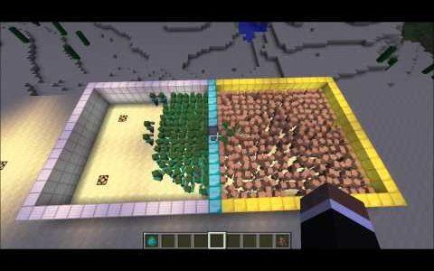 MinecraftのNPCとMOBを戦わせてどちらが勝つか検証する動画
