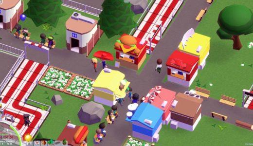 遊園地経営ゲームParkitectがカオス。ジェットコースターは山を貫き地中を走る