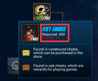 死神のようなヒーロー「OZIEL」は450個のRIFT EMBERがあればアンロックできるけど…