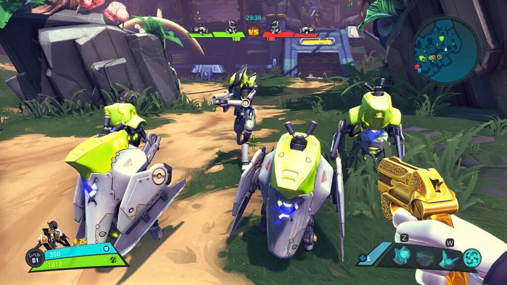 黄緑色のロボットがミニオン