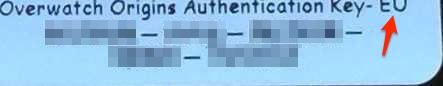 実際に届いたキー。右上に、上部が少し途切れた「EU」の文字が見えるのが分かる