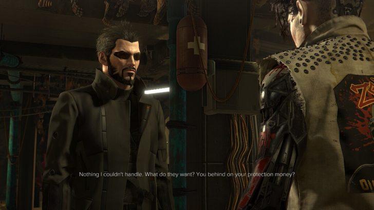 英語版『Deus Ex: Mankind Divided』のカットシーンの様子。