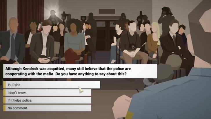 ストーリー序盤からマスコミの質問攻めにあう主人公。なんか、かわいそう。