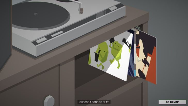 プレイ中に聴けるジャズは、カタログから購入できるようになる。