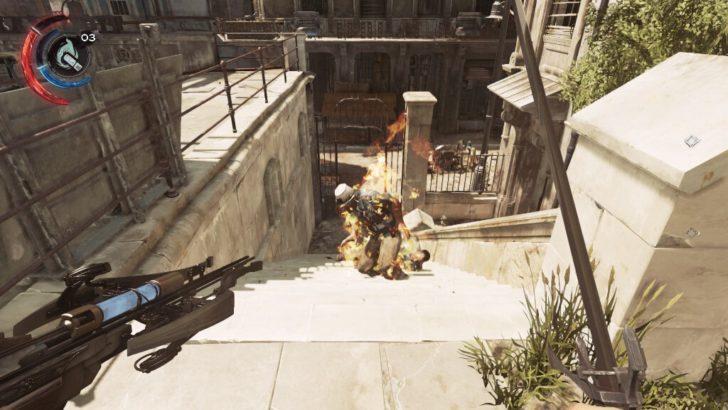 特殊なボウガンの矢で衛兵たちを単純に燃やすだけでは満たされない