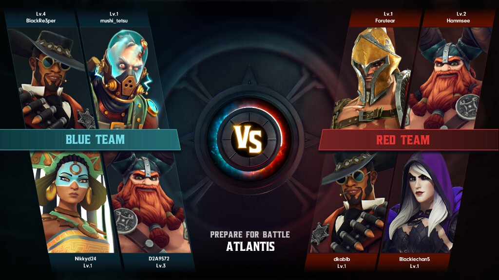 引用:Amazon Game Studios『Breakaway』 青チームと赤チームとに分かれて試合する
