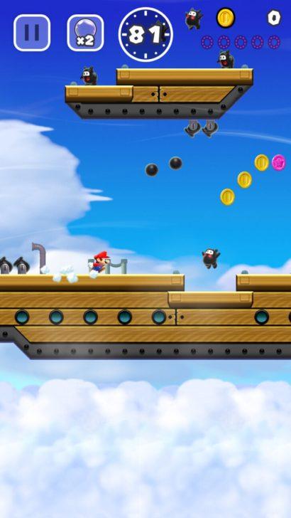 引用:任天堂『スーパーマリオ ラン』 マリオは自動(オート)でダッシュし続ける