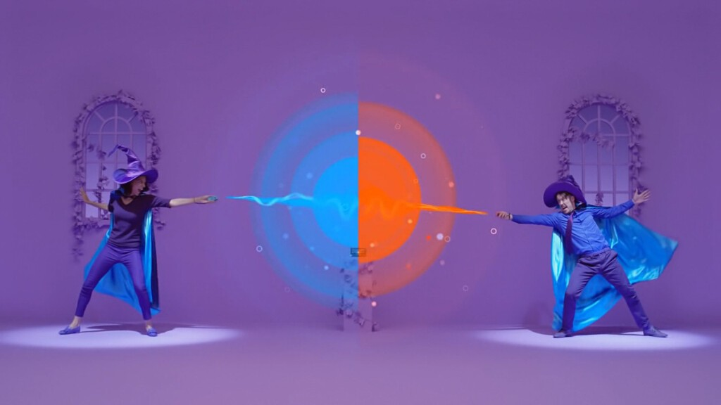 「魔法使い」はJoy-Conを突き出してカウンターを狙っていくゲームモード。ハリポッター感が強く、夢の世界に浸れる