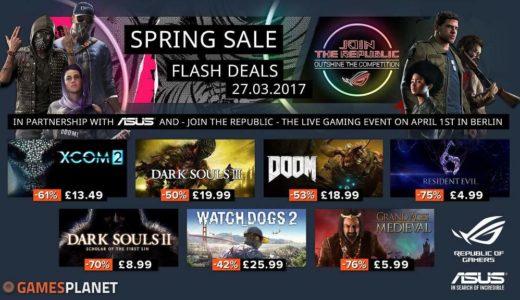Gamesplanetが春のセール2017を開催!ダークソウル3が半額、ウォッチドッグス2が4割引で購入可能