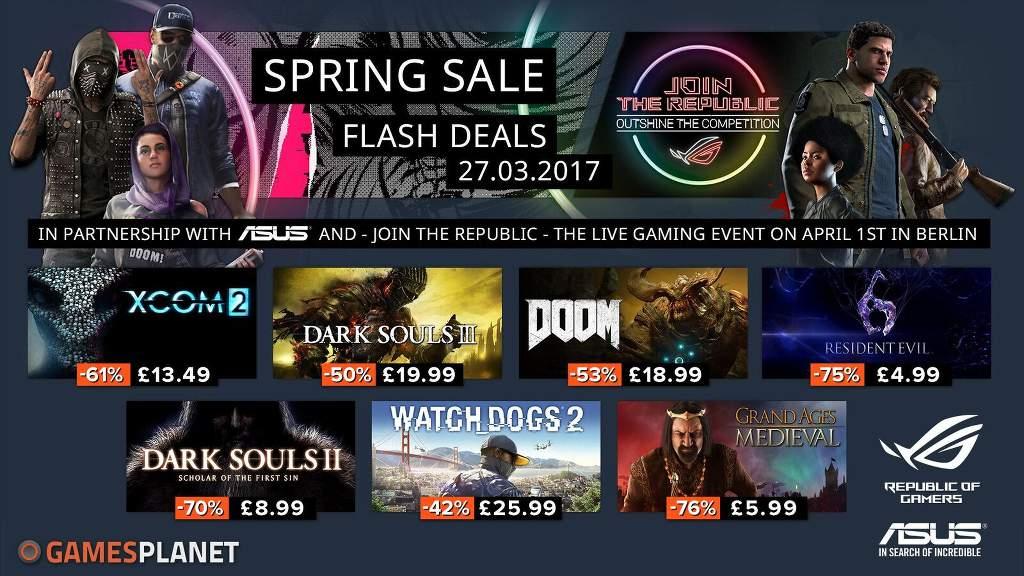 Gamesplanetにおける春のセールのイメージ
