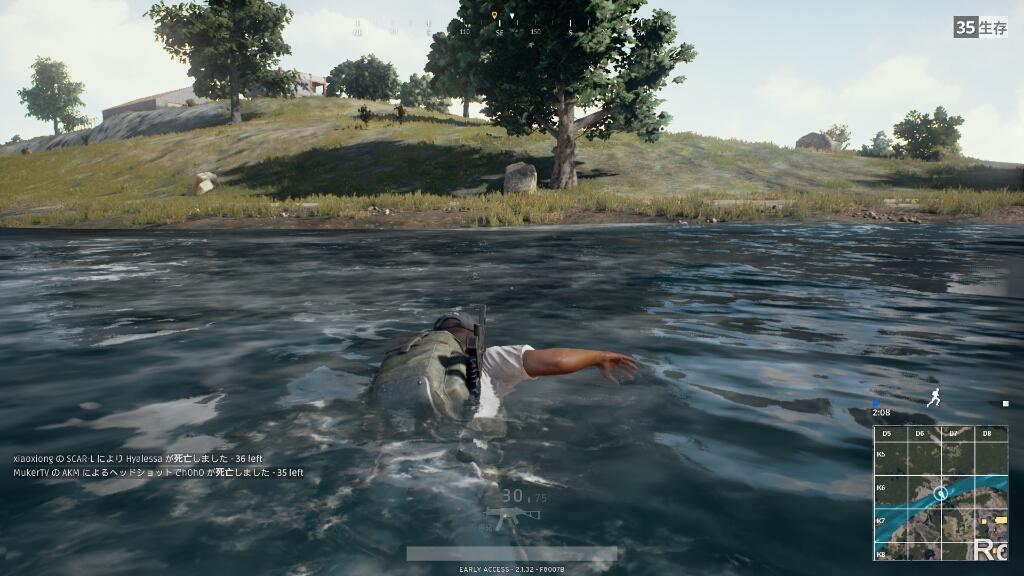 一応泳げます。