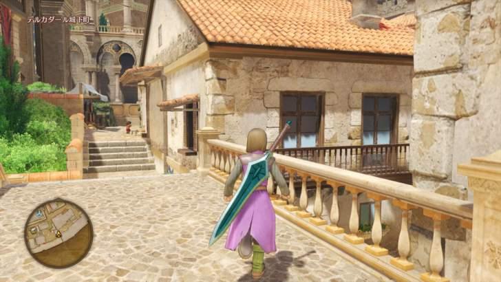 デルカダール城下町は階段が多く構造が複雑だったので探索に苦戦。マップを見てどこを探索したか覚えないといけませんでした