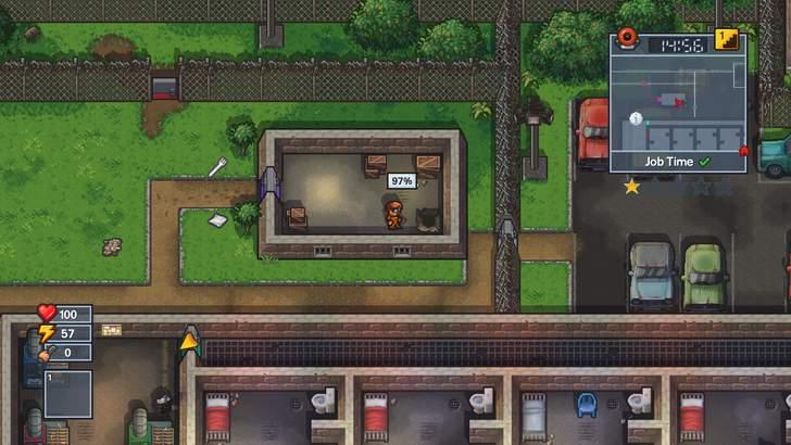 看守が刑務所内のダメージを発見すると、修理業者がやってきて修復されてしまう