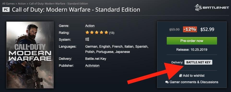 ゲームキー販売ストアのGamesplanetではBattle.netキーが販売されています