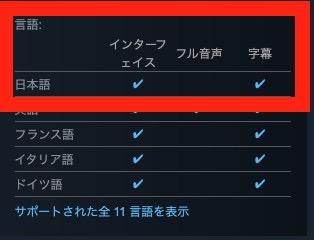 Steam版は日本語に対応