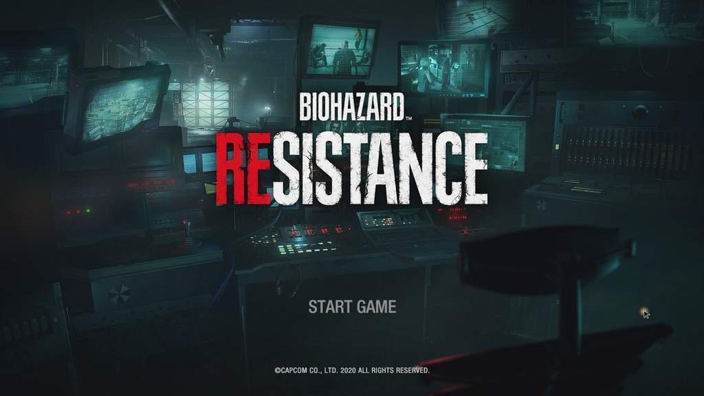 海外版でもバイオハザード レジスタンスのスタート画面ではBIOHAZARD RESISTANCEと出ます