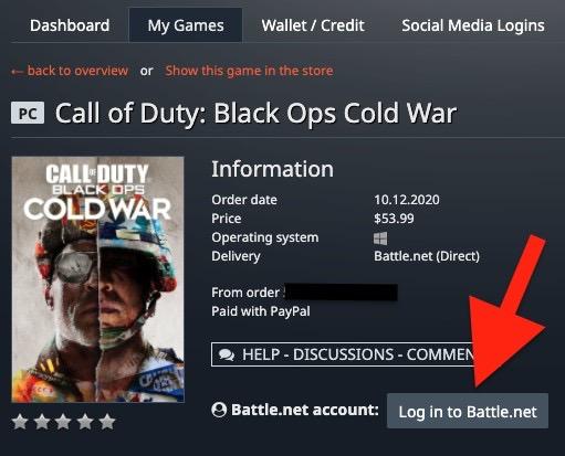 「Enable this product(この商品を有効化する)」を押した後の画面。Battle.netへのログインが求められます