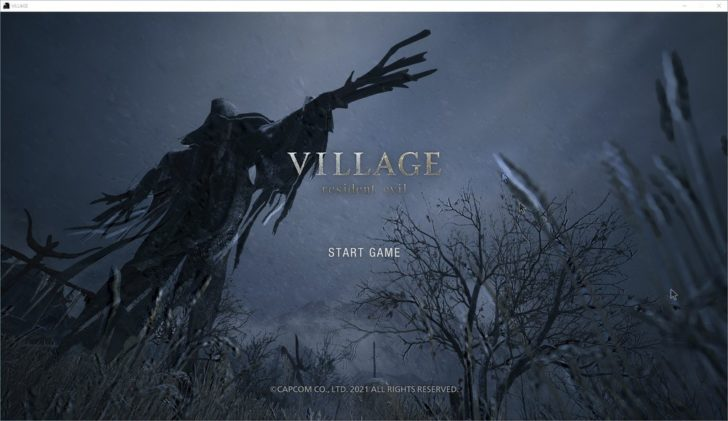 海外版のタイトル画面。海外版ではタイトル表記が「RESIDENT EVIL」となります