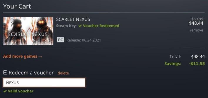 カートページにてクーポンコード「NEXUS」と入力し適用すると19%OFFになります(2021年7月4日頃まで)